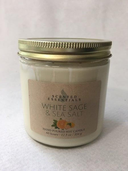 Scented Essentials White Sage & Sea Salt candle