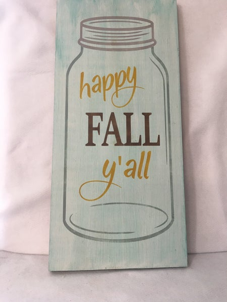 """""""Happy Fall"""" sign"""