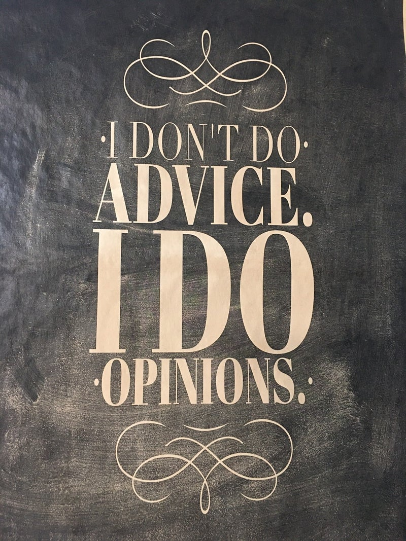 """Monahan paper """"I don't do advise, I do opinions"""""""