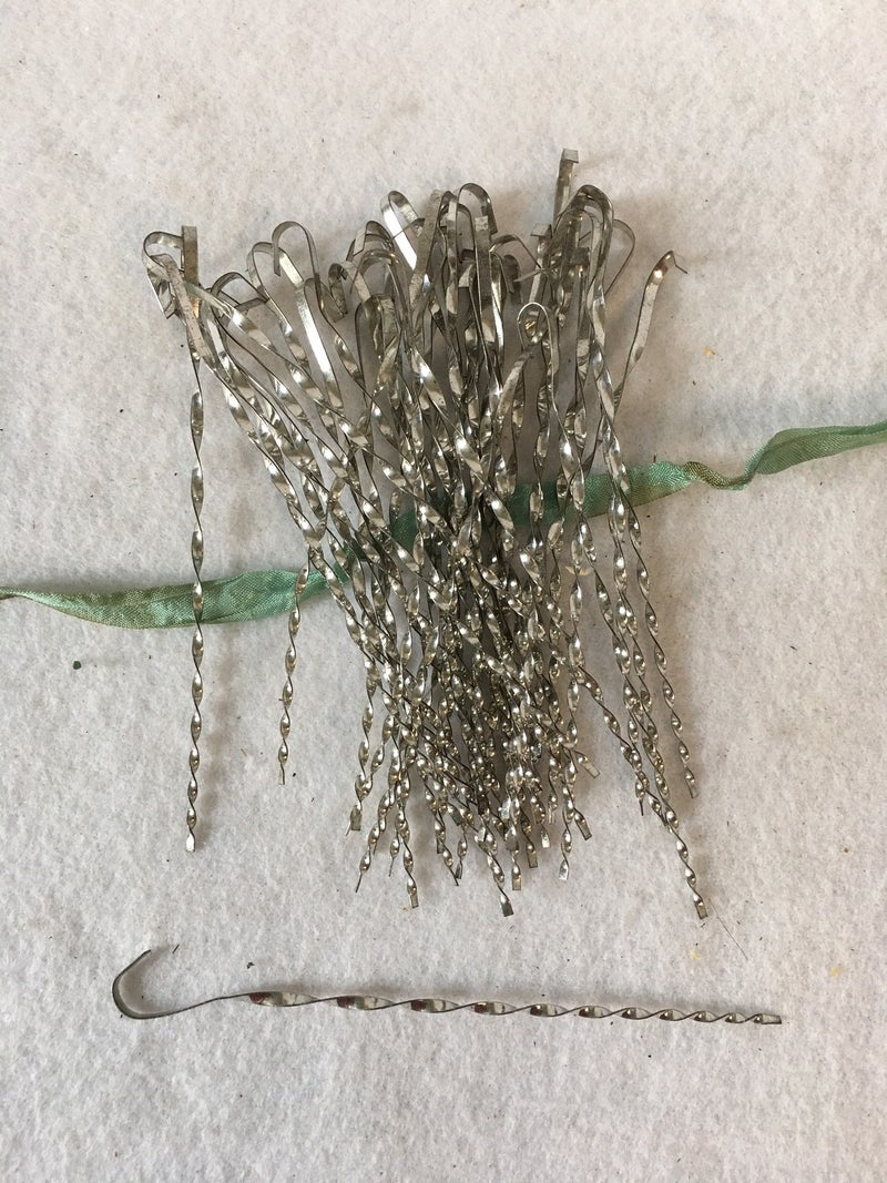 43 Victorian silver icicle ornaments