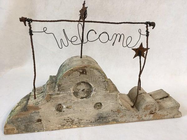 """Welcome"" corbel"