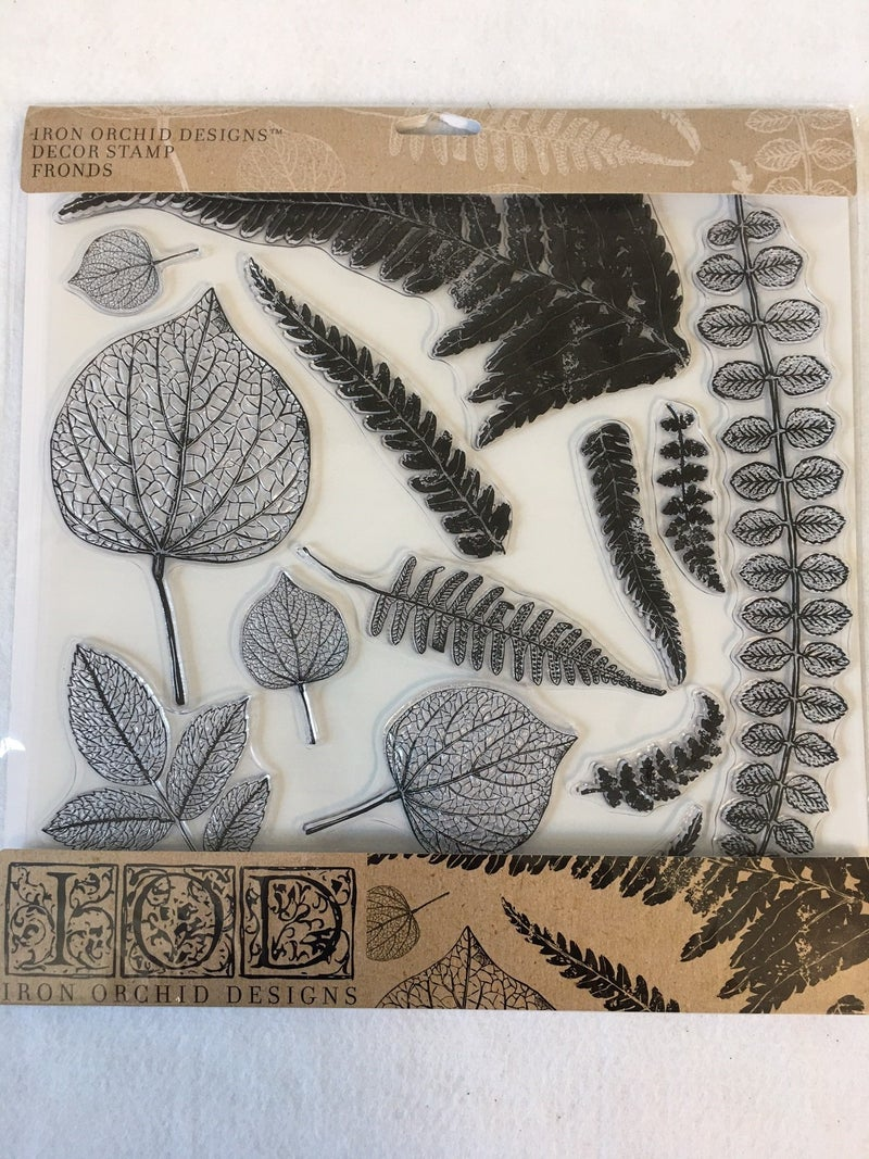 Fronds stamp from Iron Orchid Design
