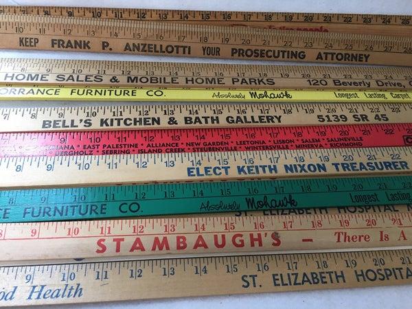 Bargain bundle of vintage yardsticks