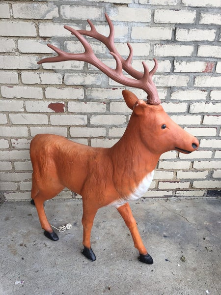"""Blow mold reindeer 36"""" long, 44"""" tall, local pick up only"""