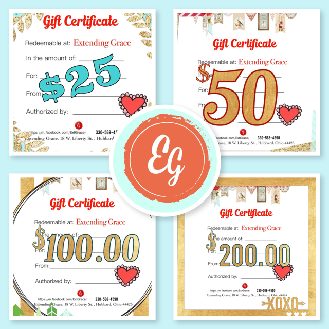 Extending Grace In-Store Gift Certificates