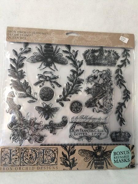 "Iron Orchid Design ""Queen Bee"" stamp"
