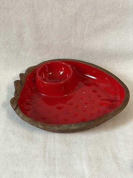 Ceramic Strawberry shaped server
