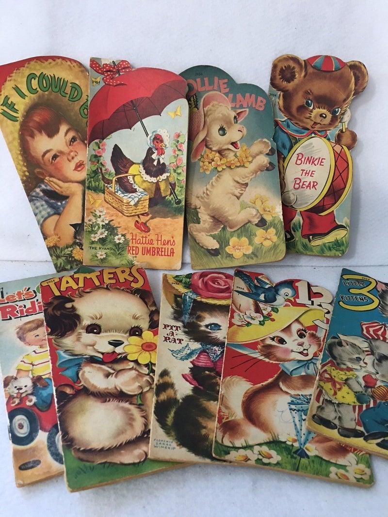 Set of 9 vintage Whitman children's paper books *Final Sale*