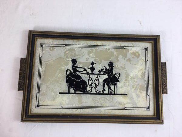 Vintage sillouette tray