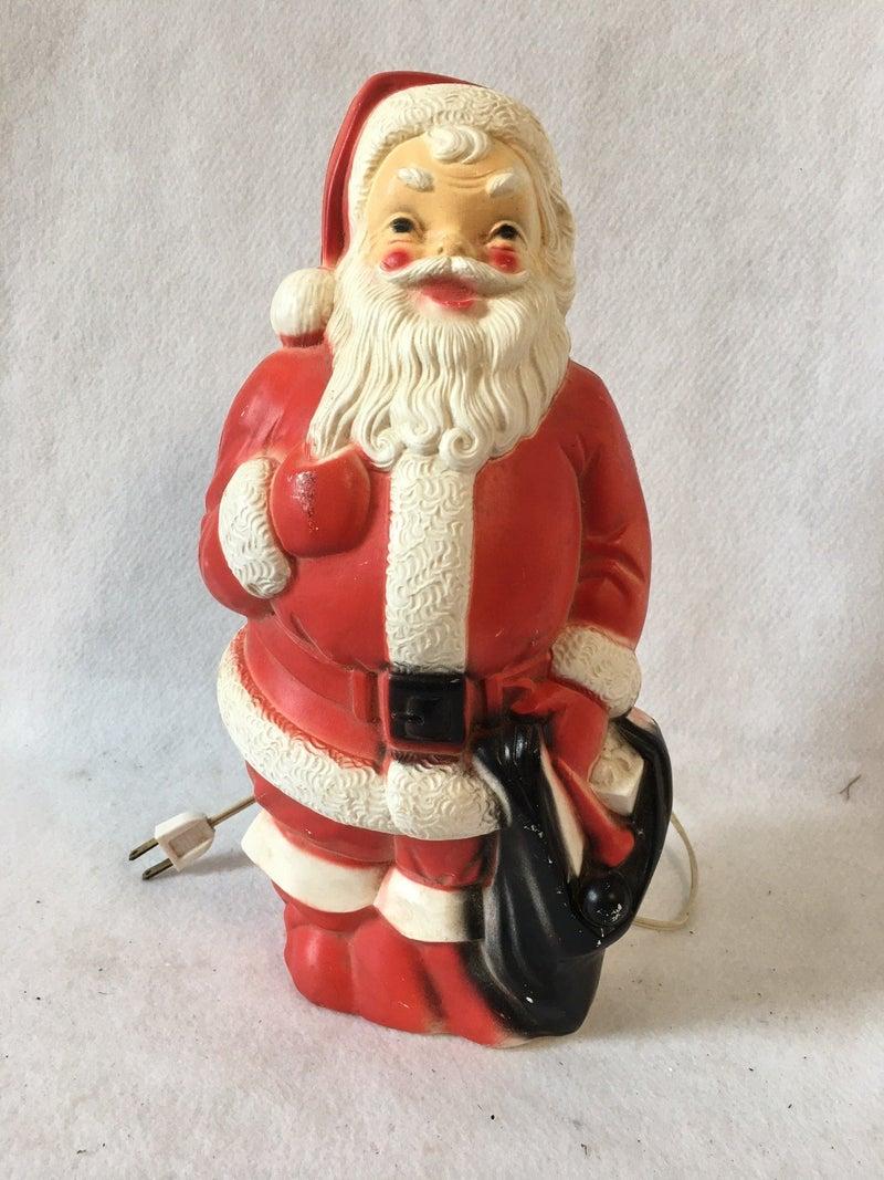 Small Empire blow mold Santa with cord