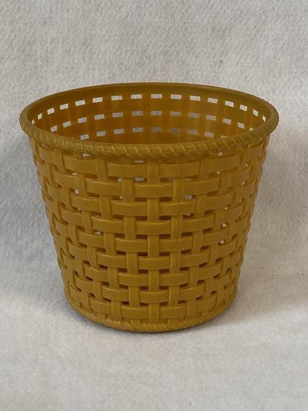 Vintage gold plastic flower pot