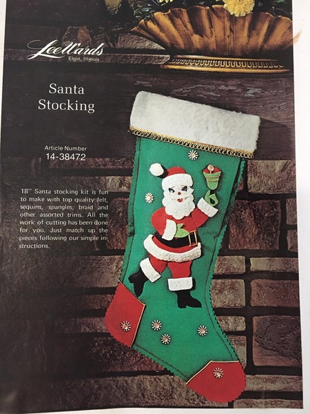 Vintage Lee Wards Santa stocking kit