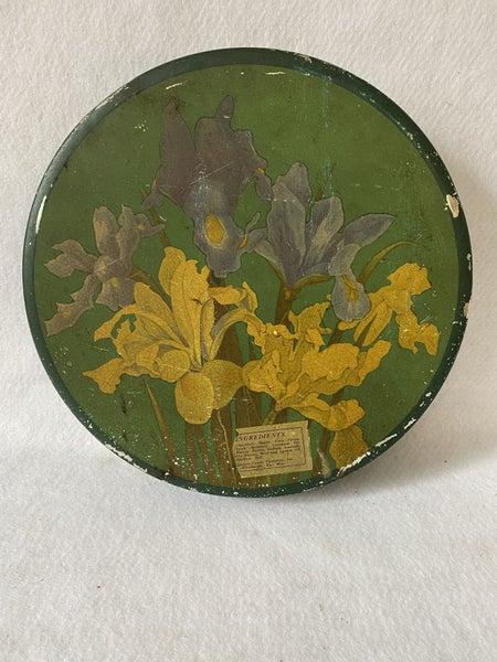 Vintage Iris tin