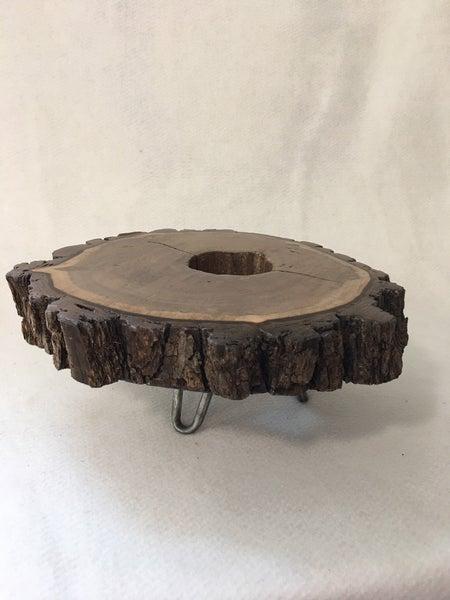 Walnut riser/plant stand