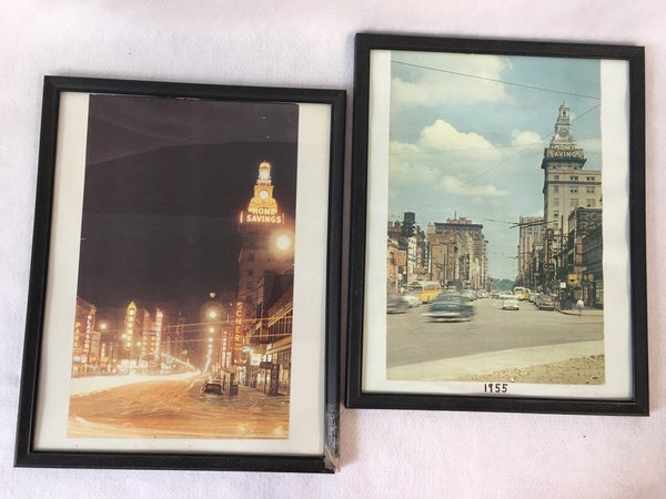 Pair of vintage downtown Youngstown photos