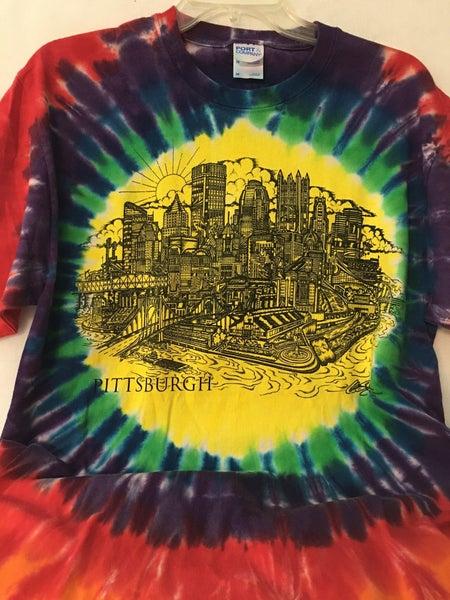 Pittsburgh tie die shirt, medium