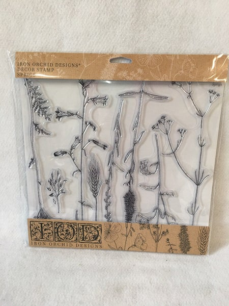 """Iron Orchid Designs """"Sprigs"""" stamp"""