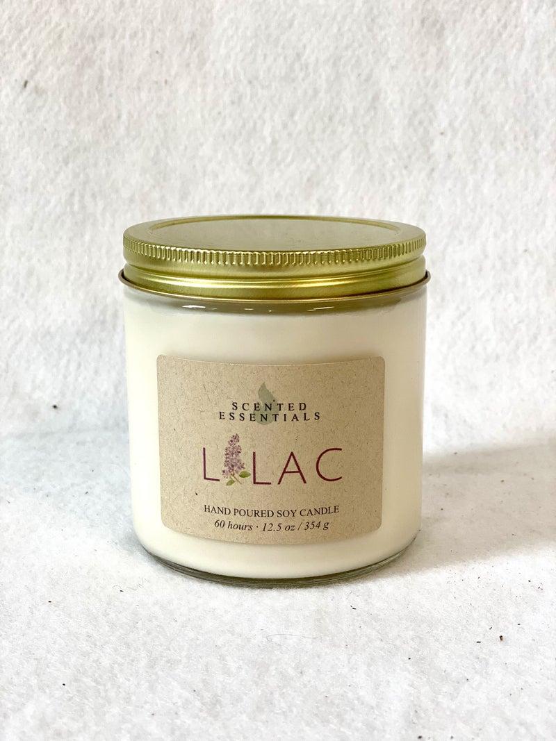 Lilac candle-large