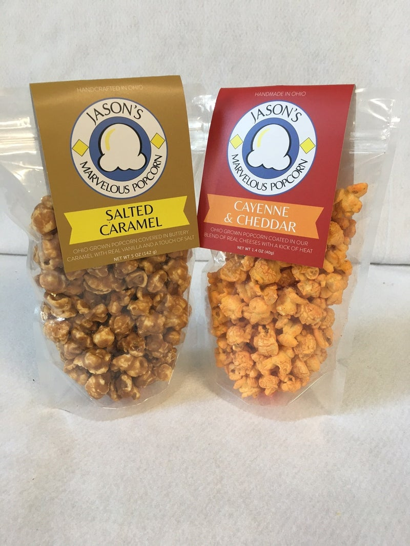 Popcorn combo Salted Caramel & Cayenne/Cheddar