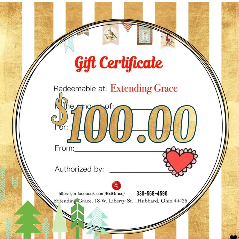 $100. Gift certificate