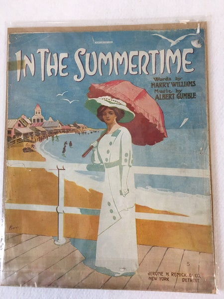 """""""In the Summertime"""" vintage sheet music"""
