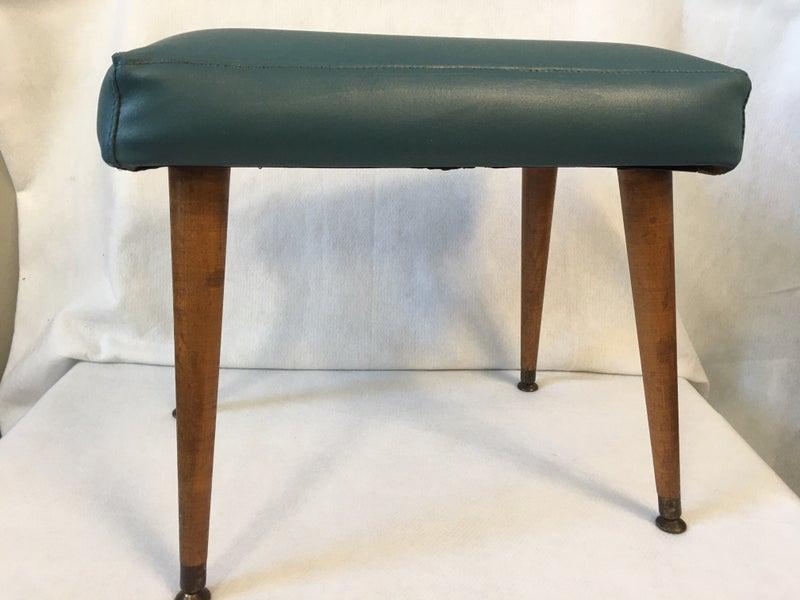 MCM blue bench/stool