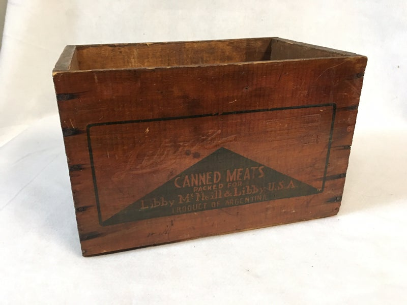Vintage wooden box, Libby canned meat