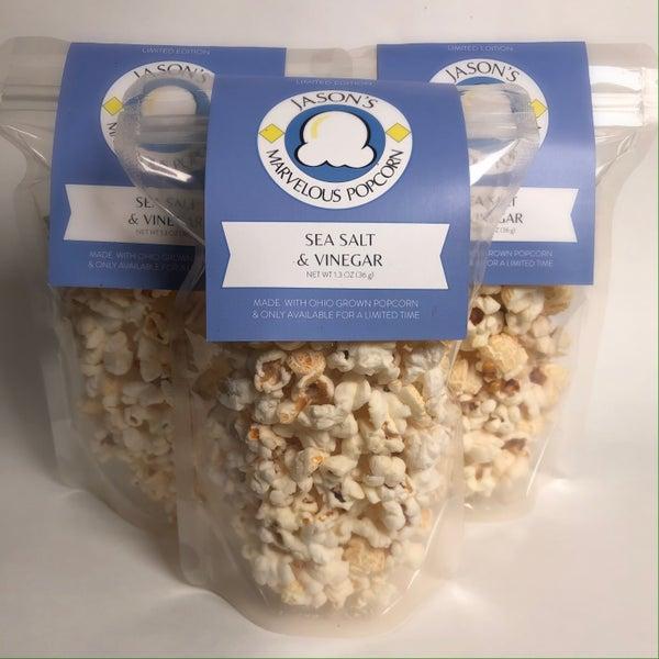 Jason's Marvelous Sea Salt & Vinegar popcorn 3 bags