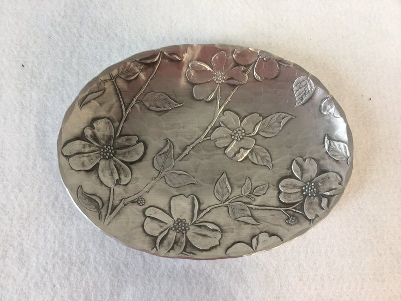 Wendell August Forge oval dogwood tray