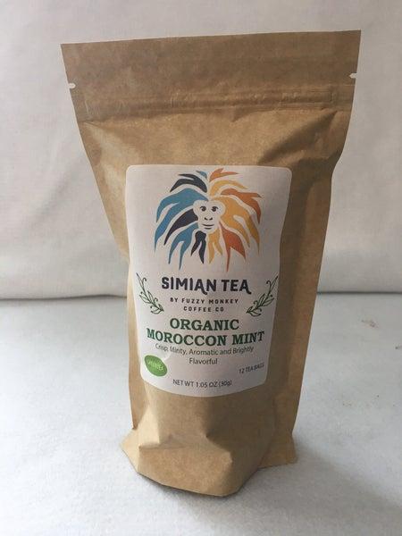 Moroccan Mint tea bags by Fuzzy Monkey Coffee Co.