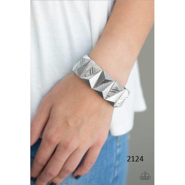 Metallic Geode - Silver