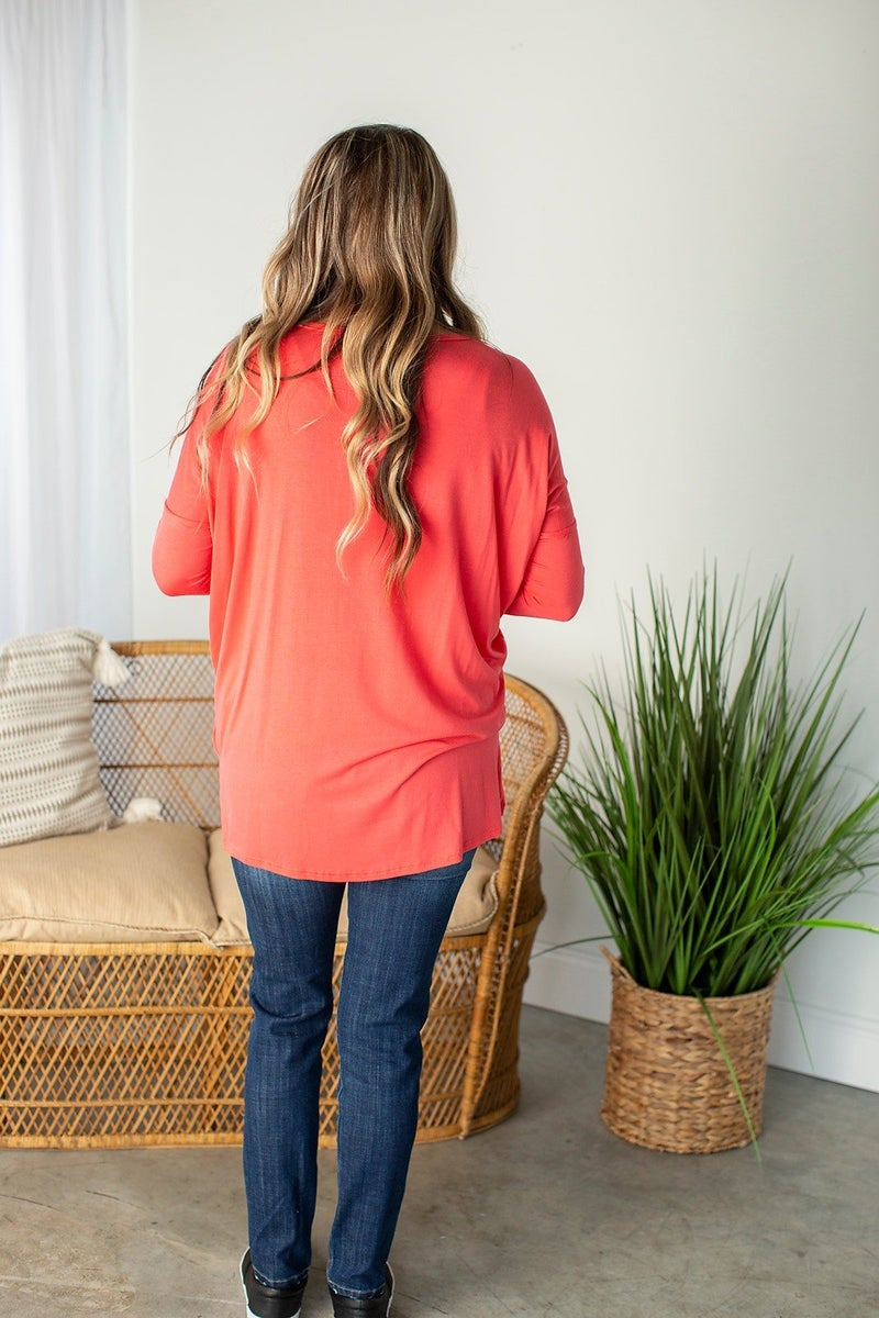 Charlotte Oversized Top with Front Pocket