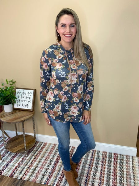 Isabelle Floral Knit Hoodie