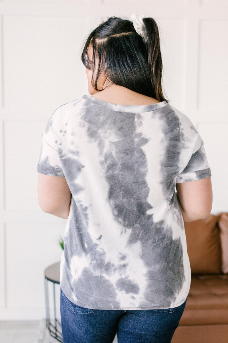 Gray Skies Tie Dye Top