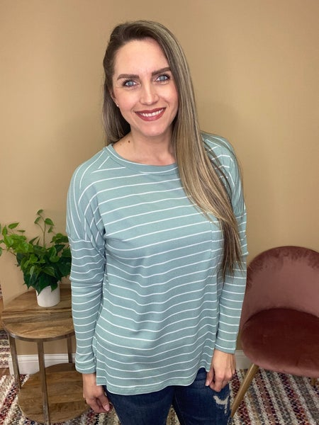 Meadow Striped Top with Pocket