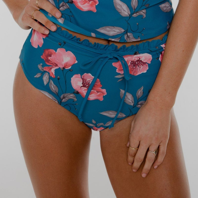 Kenzie Mid Rise Reversible Draw String Bottoms