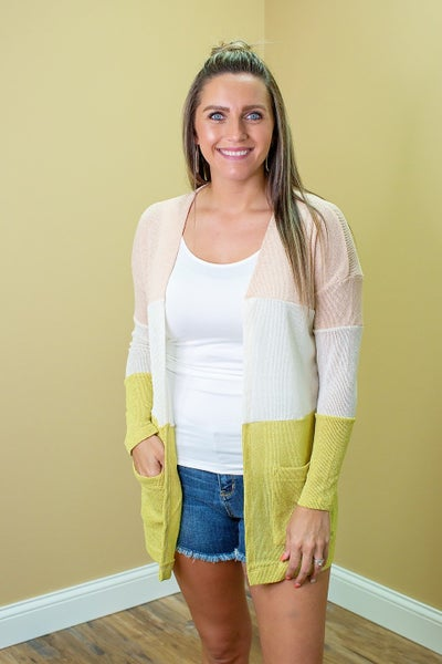 Harper Colorblock Knit Cardigan
