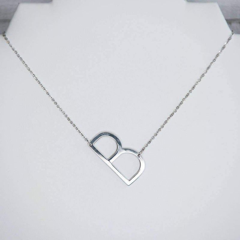 Large Letter Necklace - Silver
