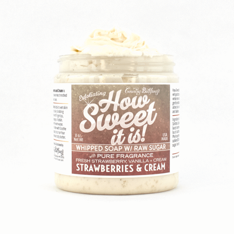 How Sweet It Is Whipped Soap with Raw Sugar - Strawberries and Cream