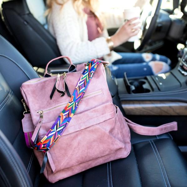Gigi Convertible Backpack Purse - Blush