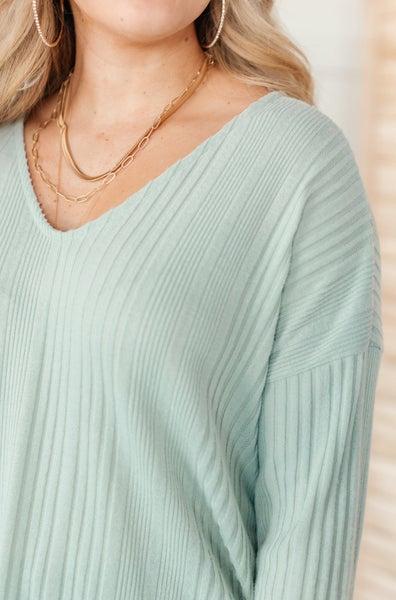 Amira Textured Top in Mint