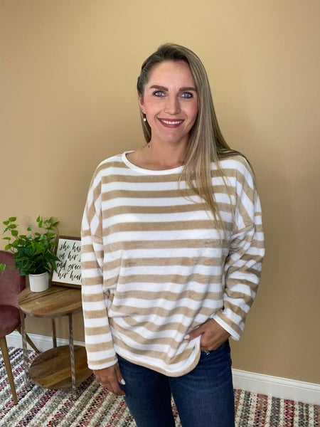 Brittan Striped Pullover Sweater