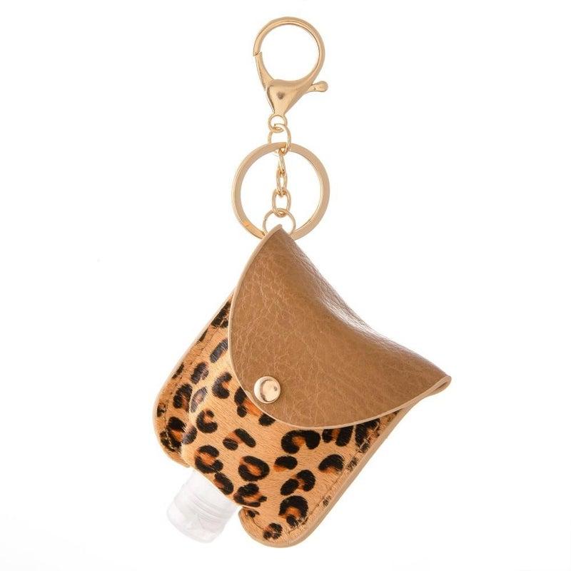 Hand Sanitizer Holder - Tan Cheetah