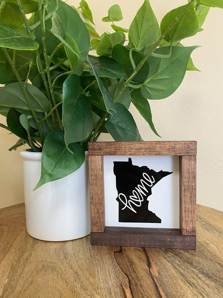 Minnesota State Boxed Sign
