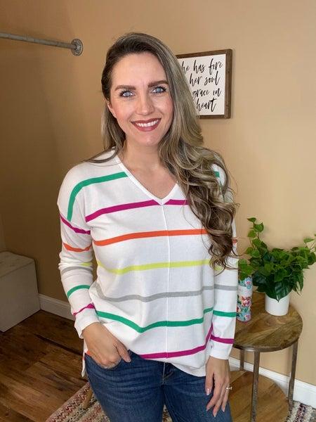 Lya V Neck Pullover Sweater