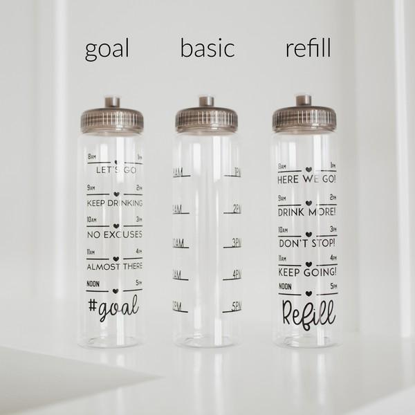 Daily Water Intake Tracker Water Bottles
