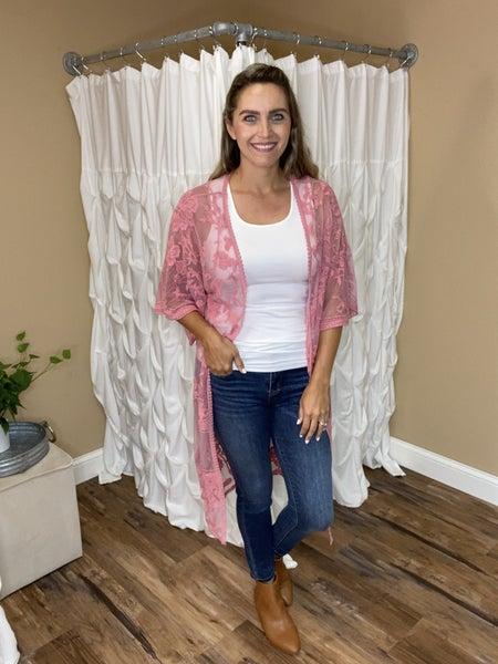 Emerson Lace Duster Kimono