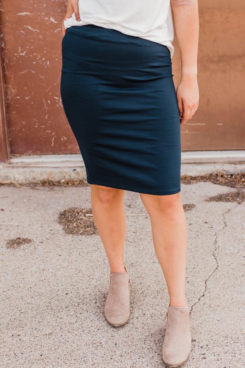 Solid Ponte Skirt