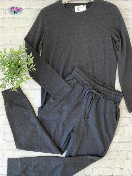 .Charcoal Loungewear
