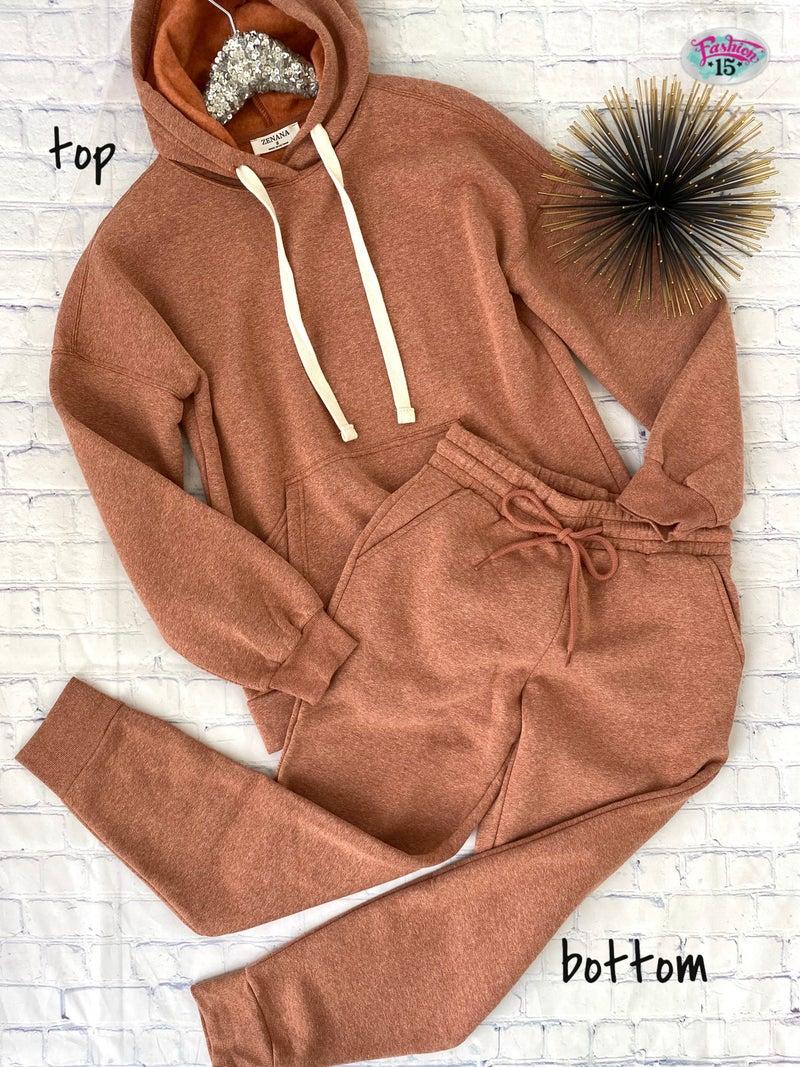Rust Fleece Lined Activewear